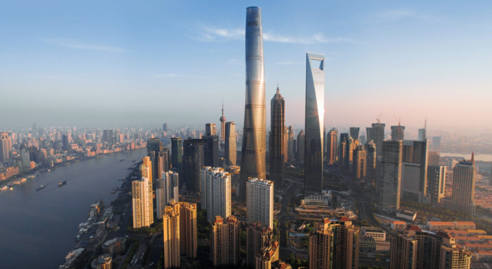 Shanghai Tower, China. Image Courtesy of GENSLER